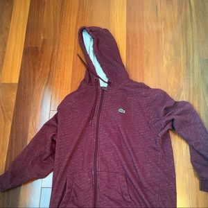 Burgundy zip up jacket